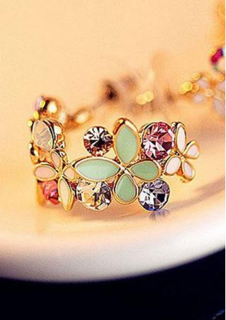 Crystal Rhinestone Butterfly Earrings Crystal