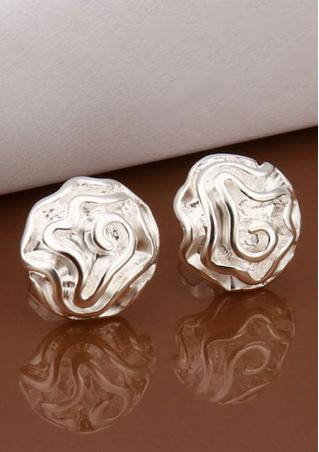 Rose Flower Shape Ear Studs