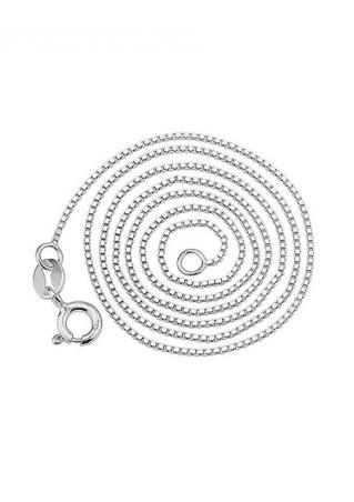 Sterling Silver 1mm Thin Box Chain Necklace