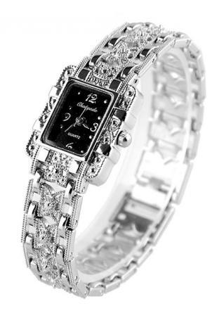 Butterfly Black Dial Quartz Wrist Watch