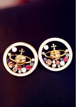 Saturn Universe Crystal Earrings