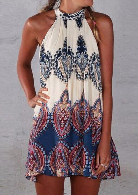 ab1881f75c49 Sleeveless Printed Summer Dress - Fairyseason