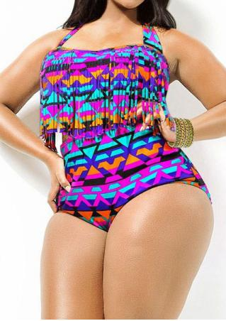 Plus Size High-Waisted Swimsuit