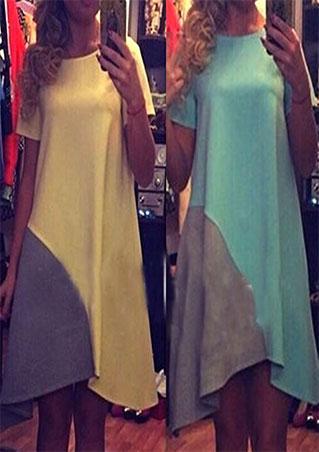 Splicing Mini Casual Loose Dress