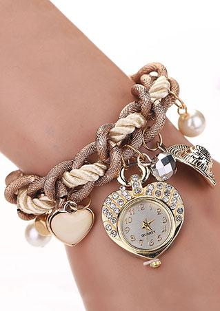 Heart Rhinestone Wrist Watch