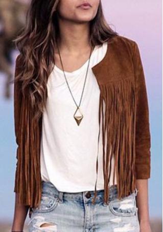 Tassle Long Sleeve Jacket