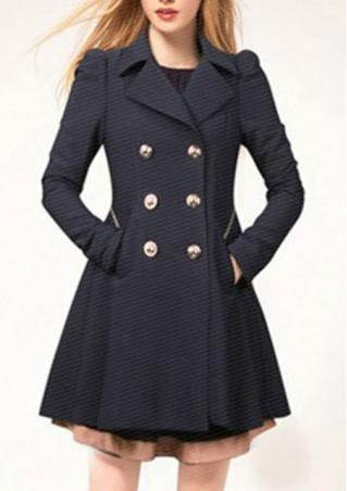 Button Down Pleated Coat
