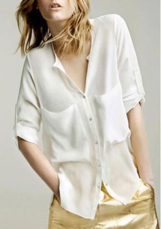 Chiffon Long Sleeve Casual Shirt Chiffon