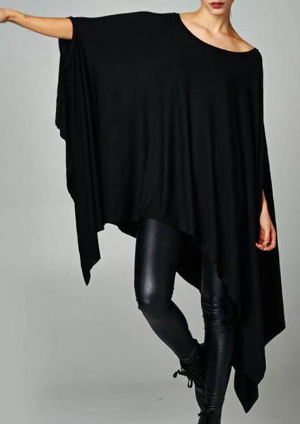 Image of Batwing Sleeve Asymmetric Casual Dress