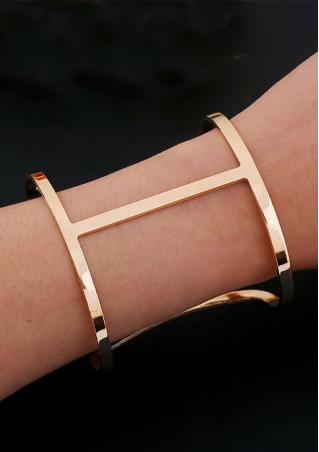 Hollow H Shape Bracelet Bangle