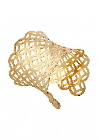 Hollow Grid Cuff Bangle