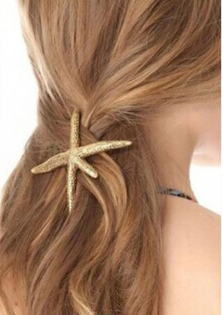 Starfish Metal Spring Side Hairpin