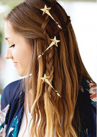 Gold Plated Star Hairpin