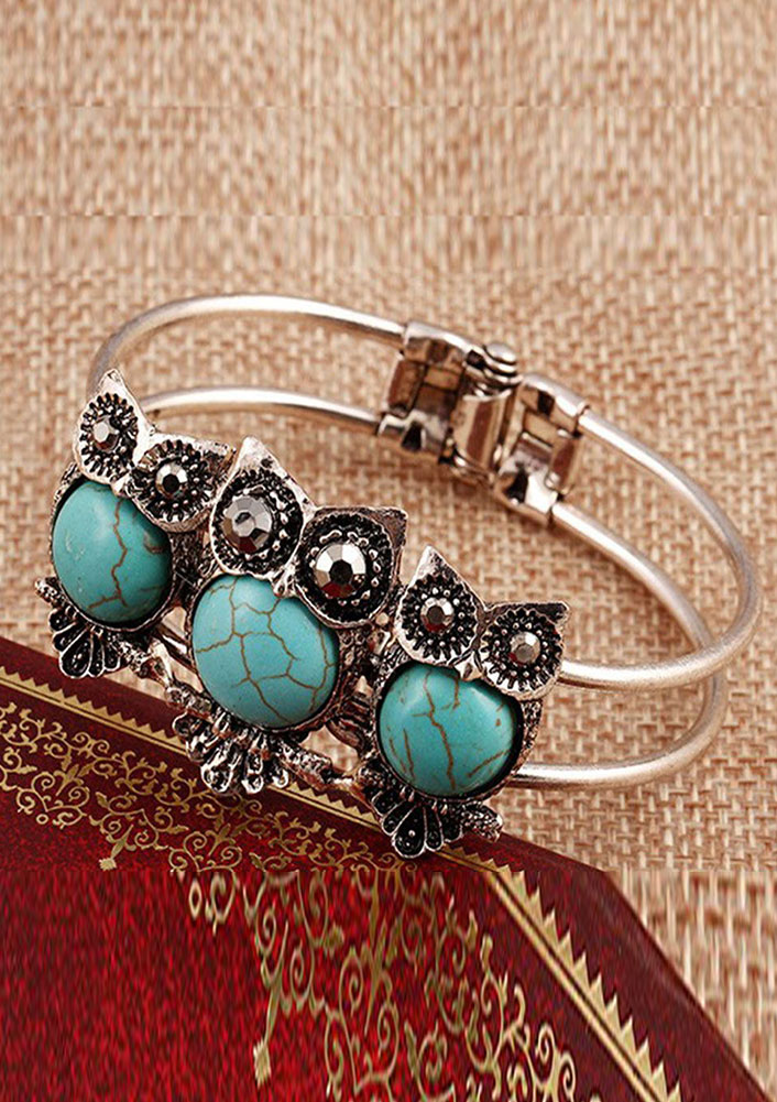 Owl Turquoise Cuff Bangle Bracelet Fairyseason