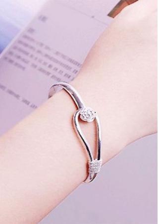 Romantic Flower Silver Bracelet