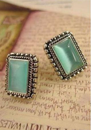 Retro Aesthetic Gemstone Earrings