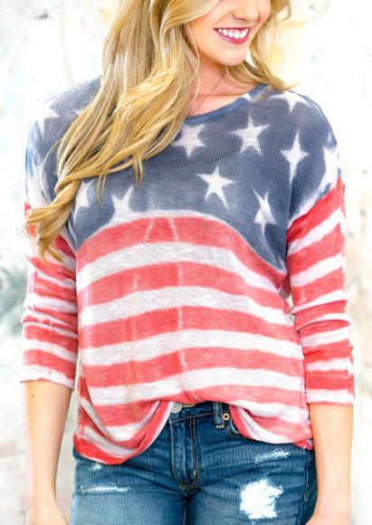 Bluză de damă, fashion, cu imprimeu și mâneci lungi