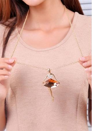 Crystal Ballet Girl Sweater Chain