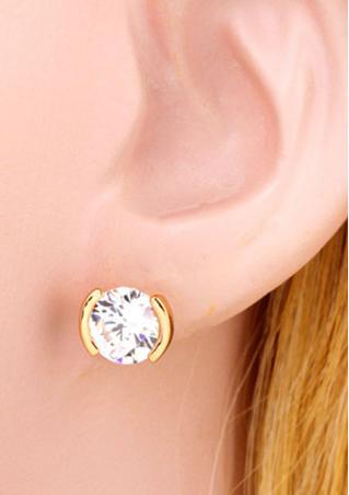 Zircon Crystal Rhinestone Ear Stud
