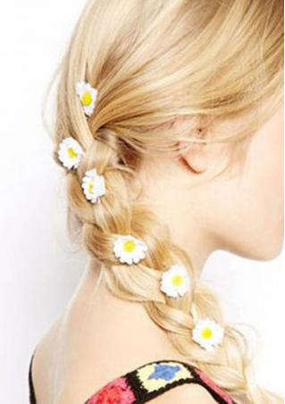 6 Pcs Flower Hair Clips 6