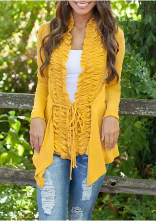 Long Sleeve Ruffle Cardigan