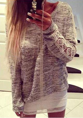 Lace Casual Sweater