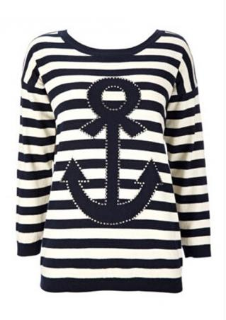 Stripe Anchor Long Sleeve T-Shirt