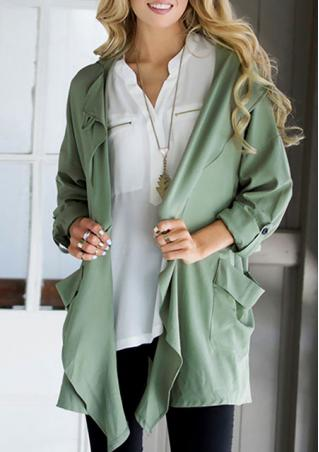 Lapel Long Sleeve Casual Coat
