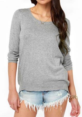 Lace O-Neck Casual Blouse