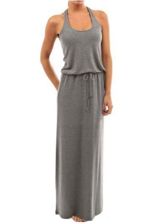 Hollow Bodycon Sleeveless Long Dress