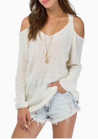 Off The Shoulder Casual Sweater
