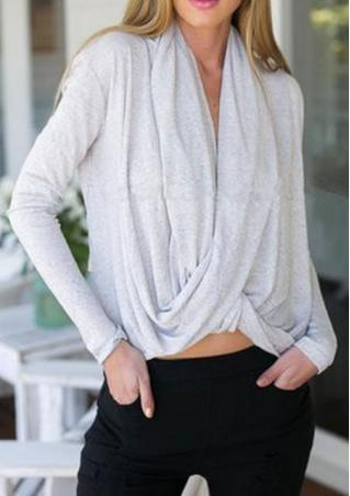 Cross Irregular Blouse