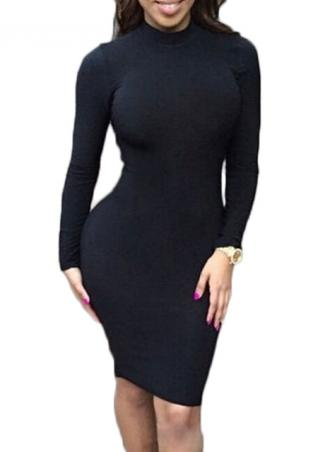 Turtleneck Backless Dress