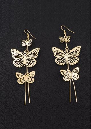 Butterfly Long Dangle Earring