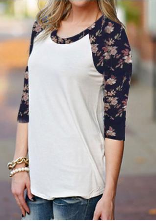 Floral Crewneck Floral T-Shirt