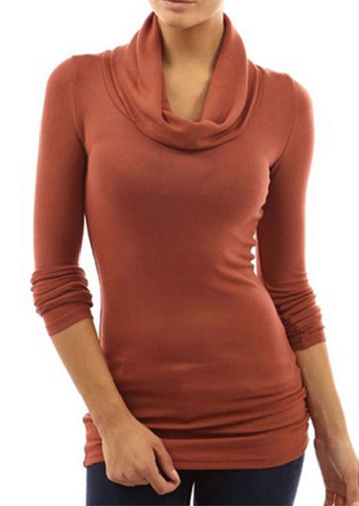 Turtleneck long sleeve t shirt fairyseason for Long sleeve black turtleneck shirt
