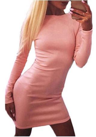 Backless Zip Long Sleeve Mini Dress Backless