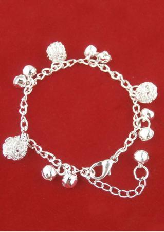Bell Ball Charm Chain Bracelet