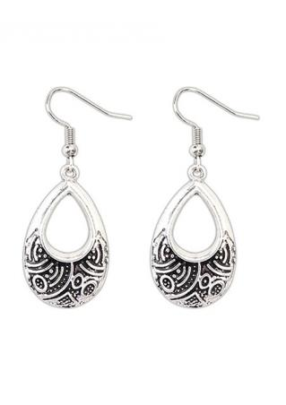 Hollow Water Drop Dangle Earring