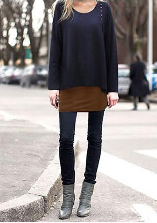 Layer Crewneck Loose Blouse