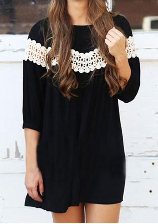Lace Hollow Out Casual Loose Blouse