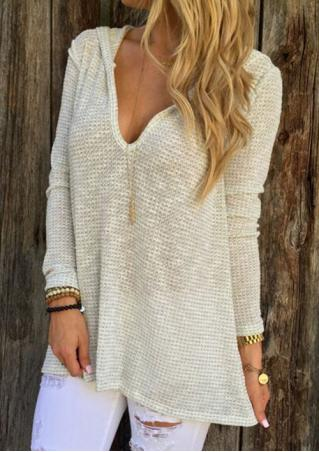 Hooded Long Sleeve Knitwear Pullover