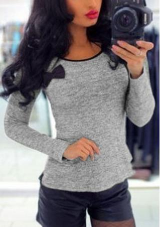 Bowknot Long Sleeve T-Shirt