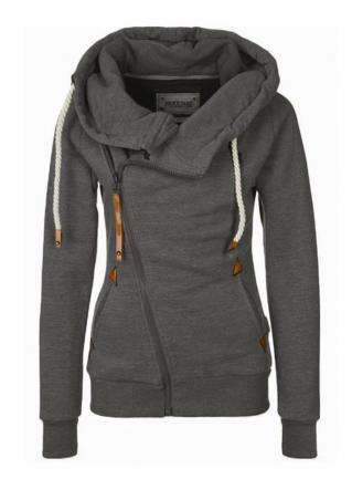 Zipper Hooded Long Sleeve Warm Hoodie
