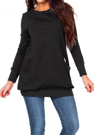 Sport Long Sleeve Pullover Sweatshirt