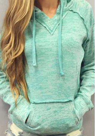 Pocket Long Sleeve Hoodie Jumper