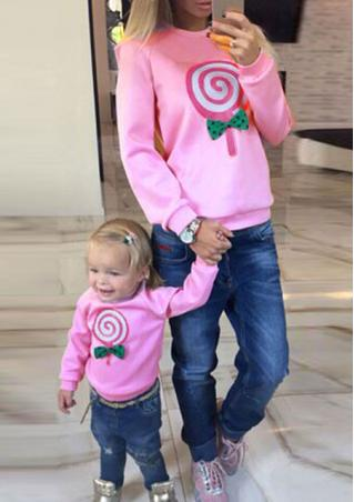 Lollipop Print Long Sleeve Jumper