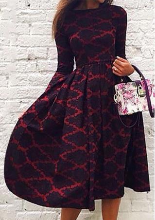 A-Line Long Floral Dress Without Bag A-Line