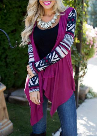 Splicing Long Sleeve Casual Cardigan