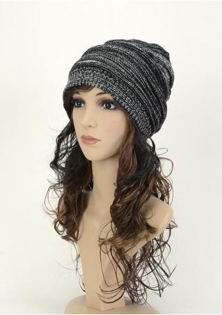 Baggy Crochet Headwear Knitted Hat Baggy